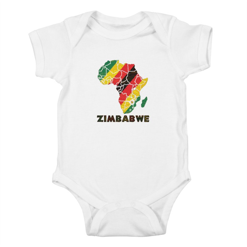 Zimbabwe Kids Baby Bodysuit by immerzion's t-shirt designs