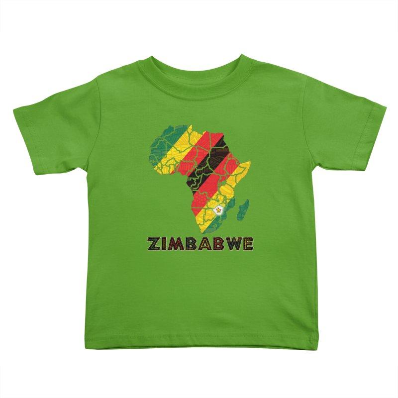 Zimbabwe Kids Toddler T-Shirt by immerzion's t-shirt designs