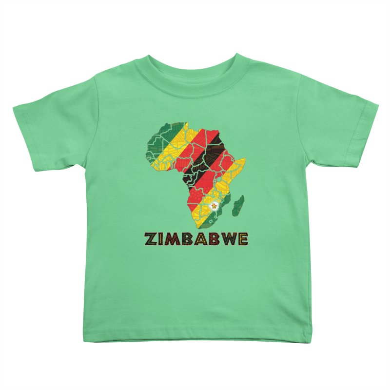 Zimbabwe Kids Toddler T-Shirt by immerzion's t-shirt designs