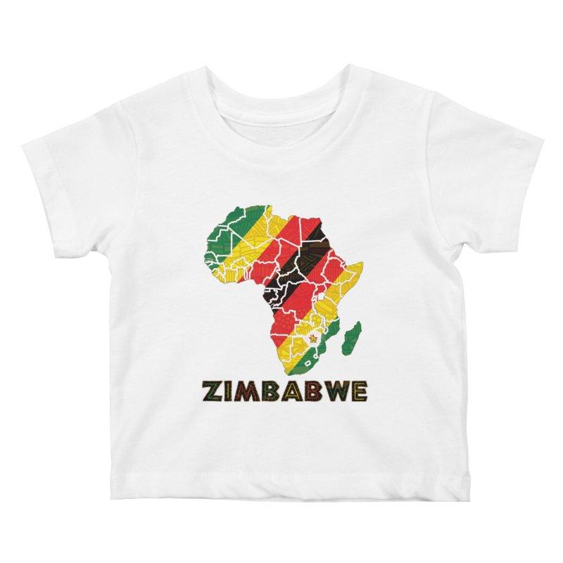 Zimbabwe Kids Baby T-Shirt by immerzion's t-shirt designs