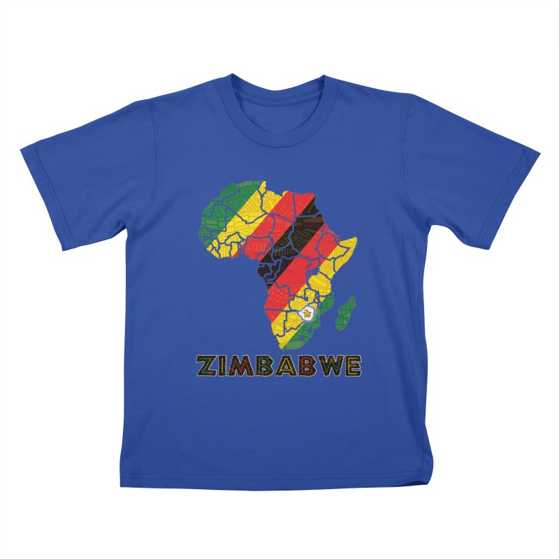 Zimbabwe Kids T-Shirt by immerzion's t-shirt designs