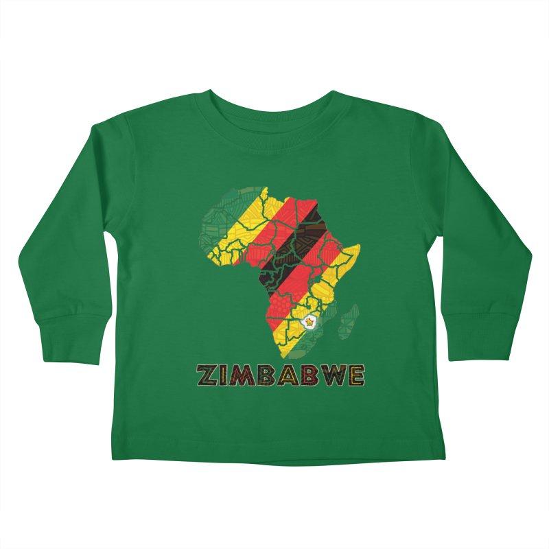 Zimbabwe Kids Toddler Longsleeve T-Shirt by immerzion's t-shirt designs