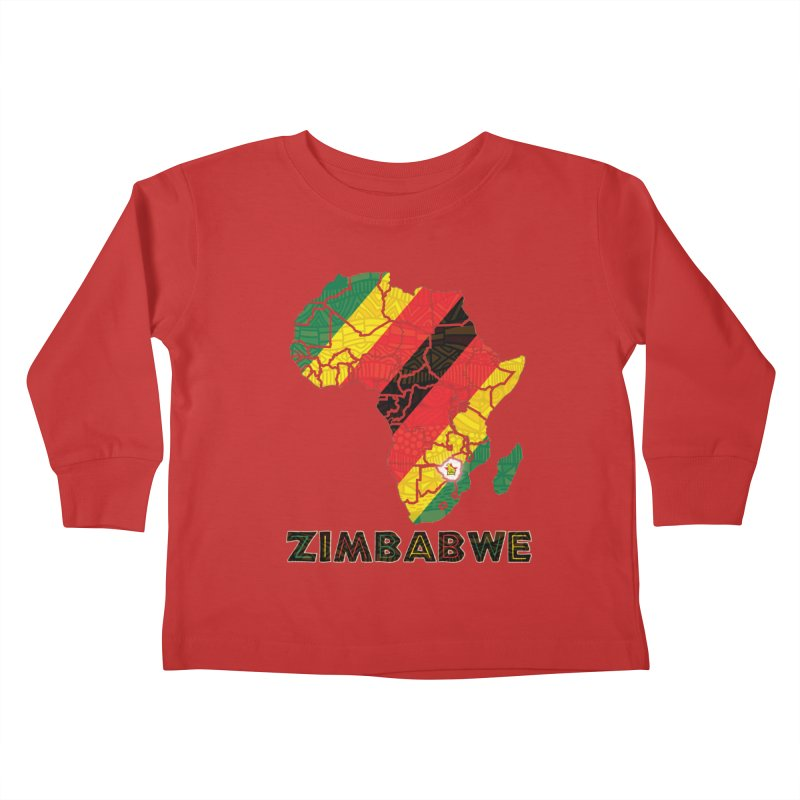 Zimbabwe Kids Toddler Longsleeve T-Shirt by immerzion's t-shirt designs