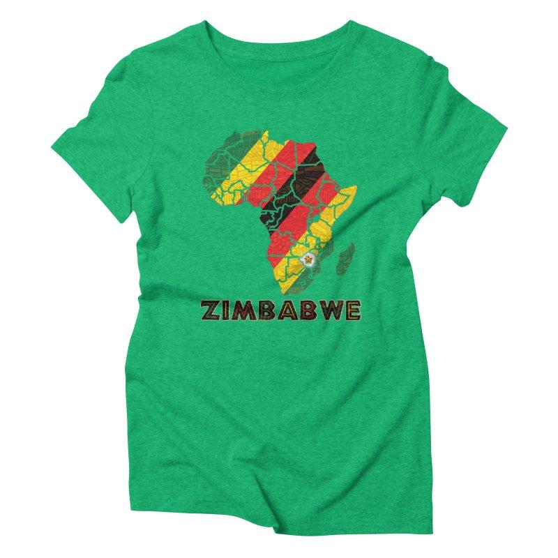 Zimbabwe Women's Triblend T-Shirt by immerzion's t-shirt designs