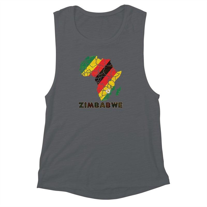 Zimbabwe Women's Muscle Tank by immerzion's t-shirt designs