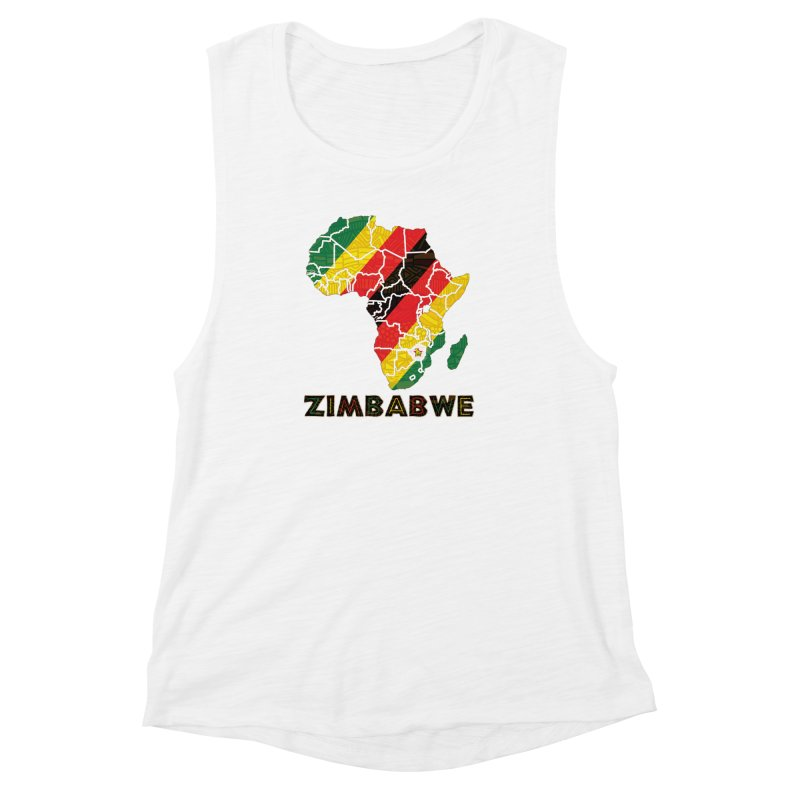Zimbabwe Women's Muscle Tank by immerzion's t-shirt designs