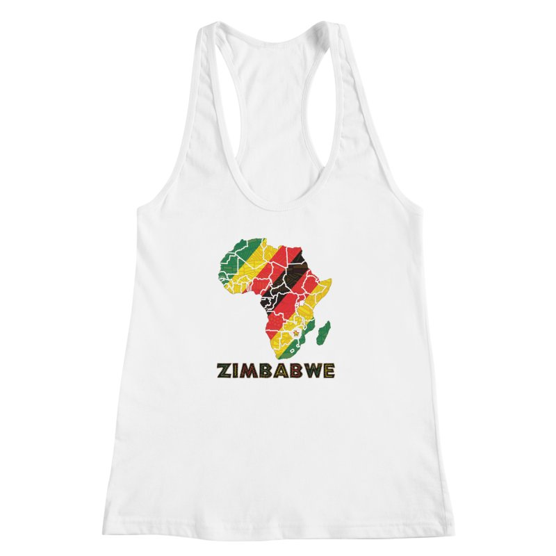 Zimbabwe Women's Racerback Tank by immerzion's t-shirt designs