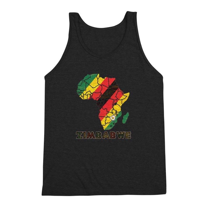 Zimbabwe Men's Triblend Tank by immerzion's t-shirt designs