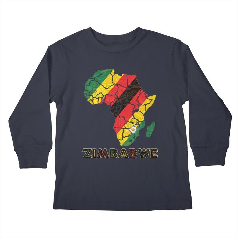 Zimbabwe Kids Longsleeve T-Shirt by immerzion's t-shirt designs