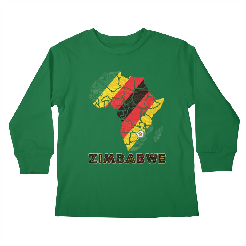 Zimbabwe Kids Longsleeve T-Shirt by immerzion's t-shirt designs
