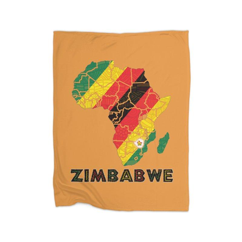 Zimbabwe Home Fleece Blanket Blanket by immerzion's t-shirt designs