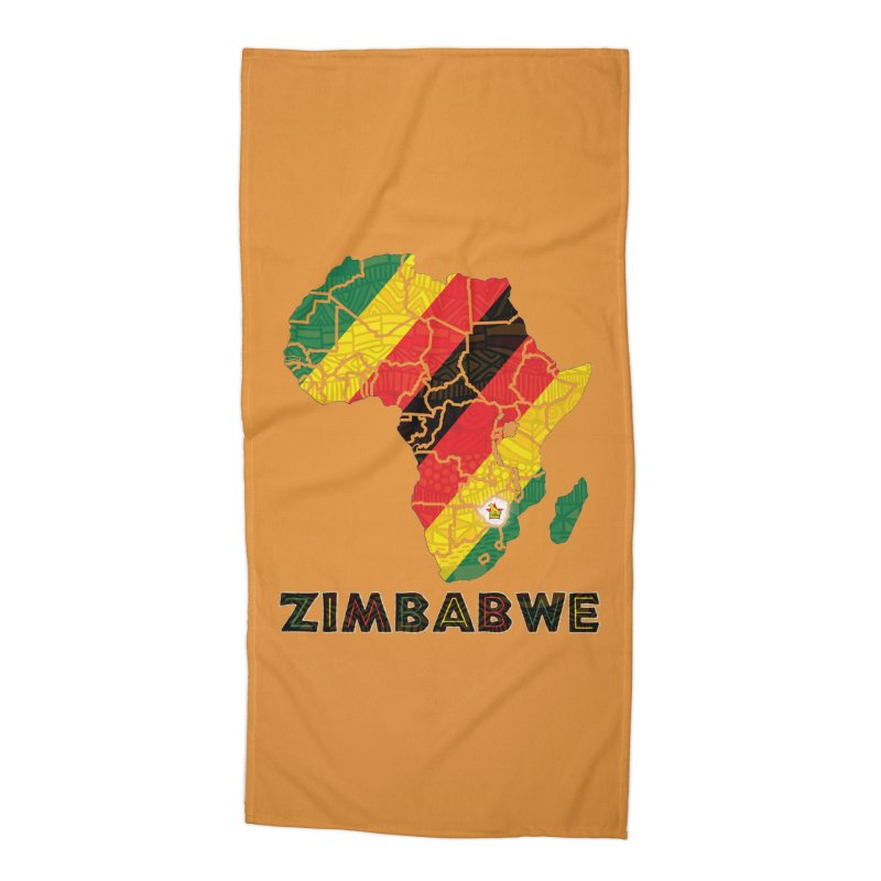Zimbabwe Accessories Beach Towel by immerzion's t-shirt designs
