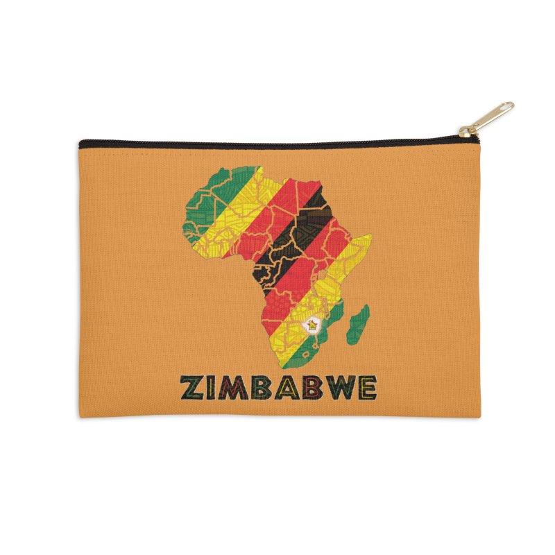 Zimbabwe Accessories Zip Pouch by immerzion's t-shirt designs