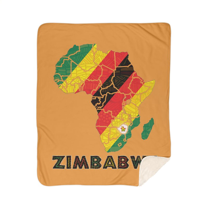 Zimbabwe Home Sherpa Blanket Blanket by immerzion's t-shirt designs