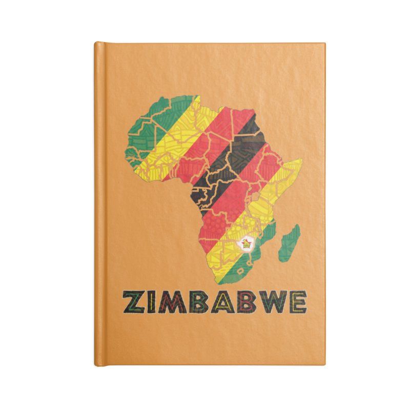 Zimbabwe Accessories Lined Journal Notebook by immerzion's t-shirt designs