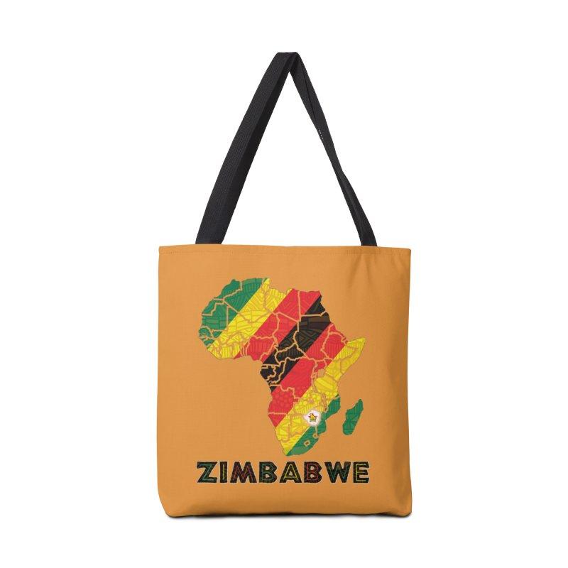 Zimbabwe Accessories Bag by immerzion's t-shirt designs