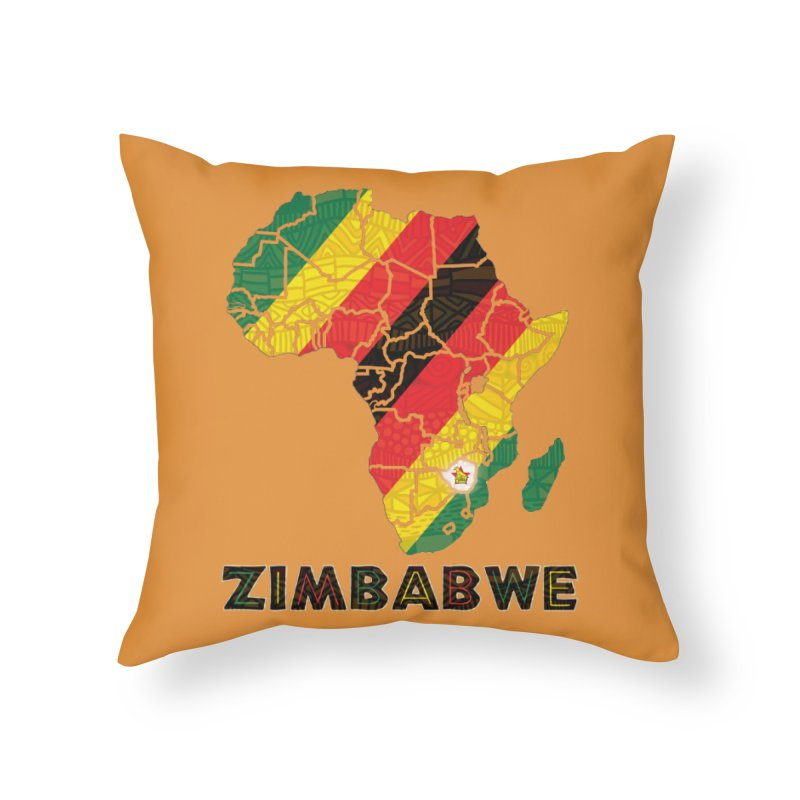 Zimbabwe Home Throw Pillow by immerzion's t-shirt designs