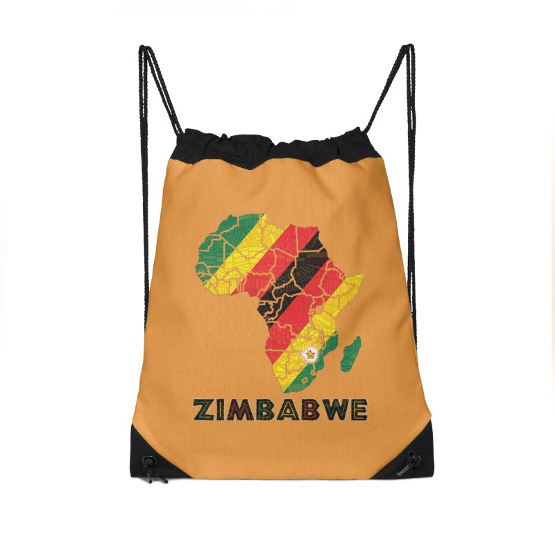 Zimbabwe in Drawstring Bag by immerzion's t-shirt designs