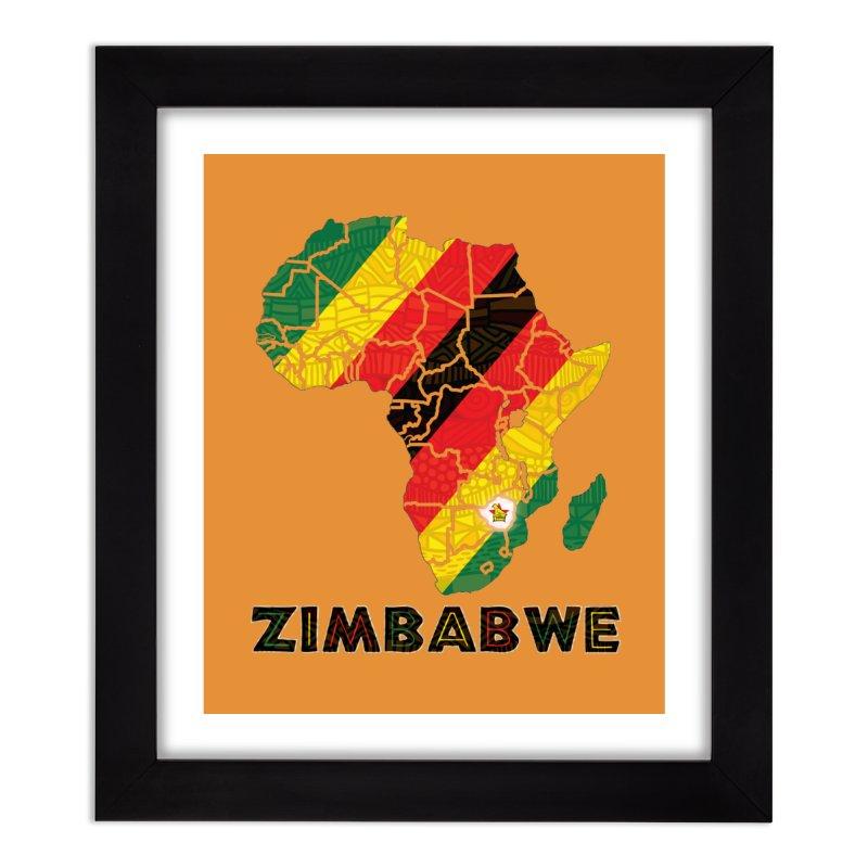 Zimbabwe Home Framed Fine Art Print by immerzion's t-shirt designs
