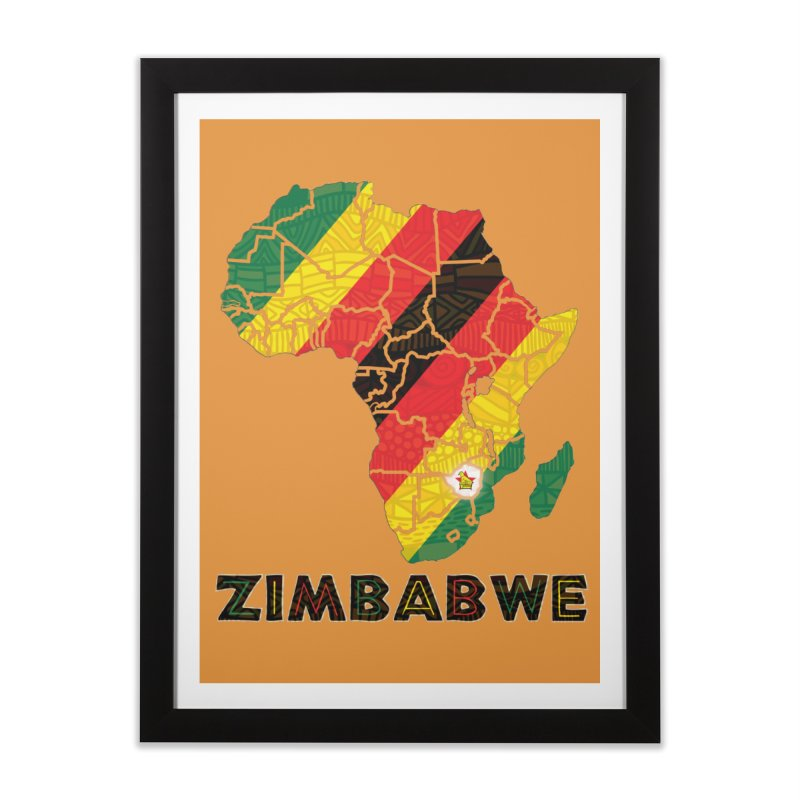 Zimbabwe Home Framed Fine Art Print by immerzion's t-shirt designs