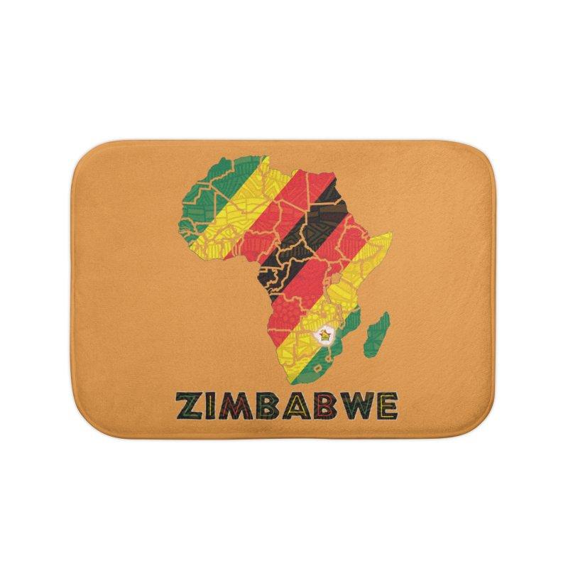 Zimbabwe Home Bath Mat by immerzion's t-shirt designs