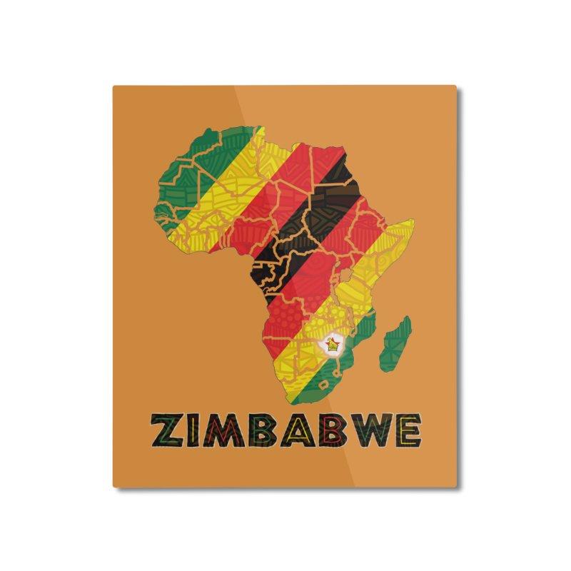 Zimbabwe Home Mounted Aluminum Print by immerzion's t-shirt designs