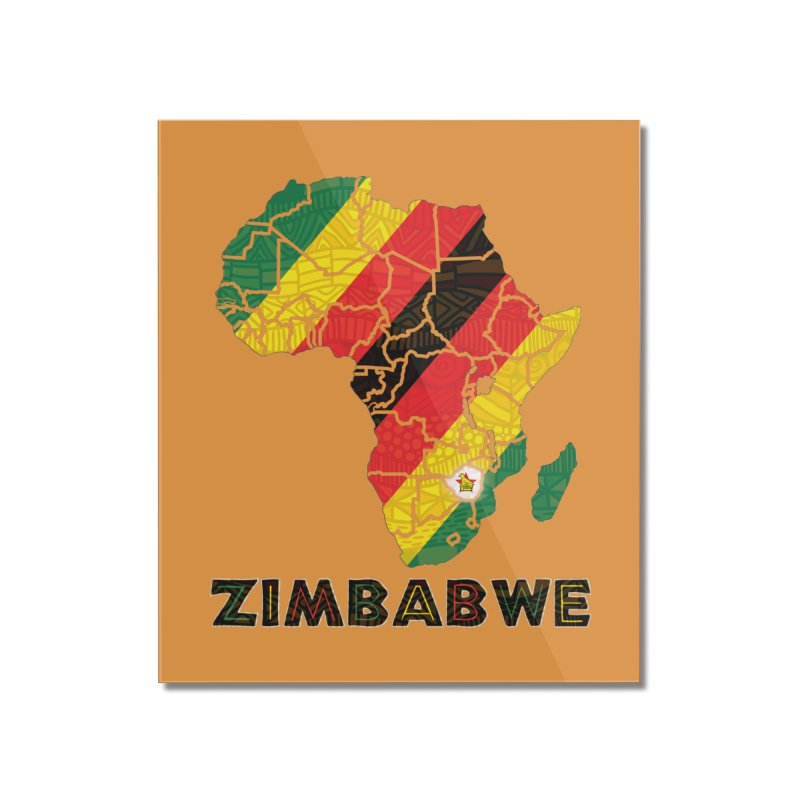 Zimbabwe Home Mounted Acrylic Print by immerzion's t-shirt designs