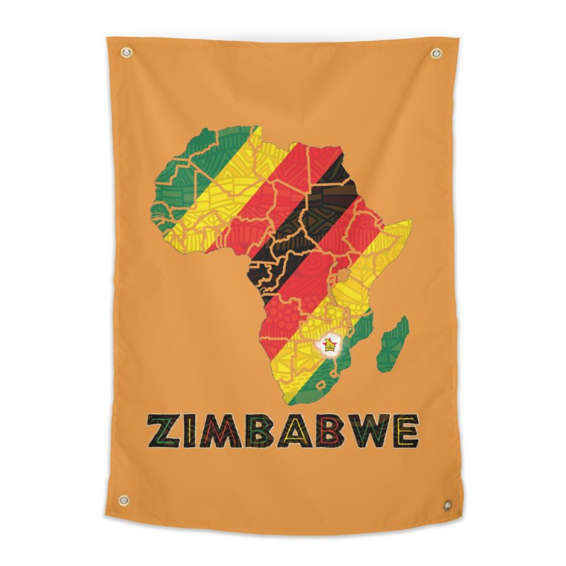 Zimbabwe Home Tapestry by immerzion's t-shirt designs