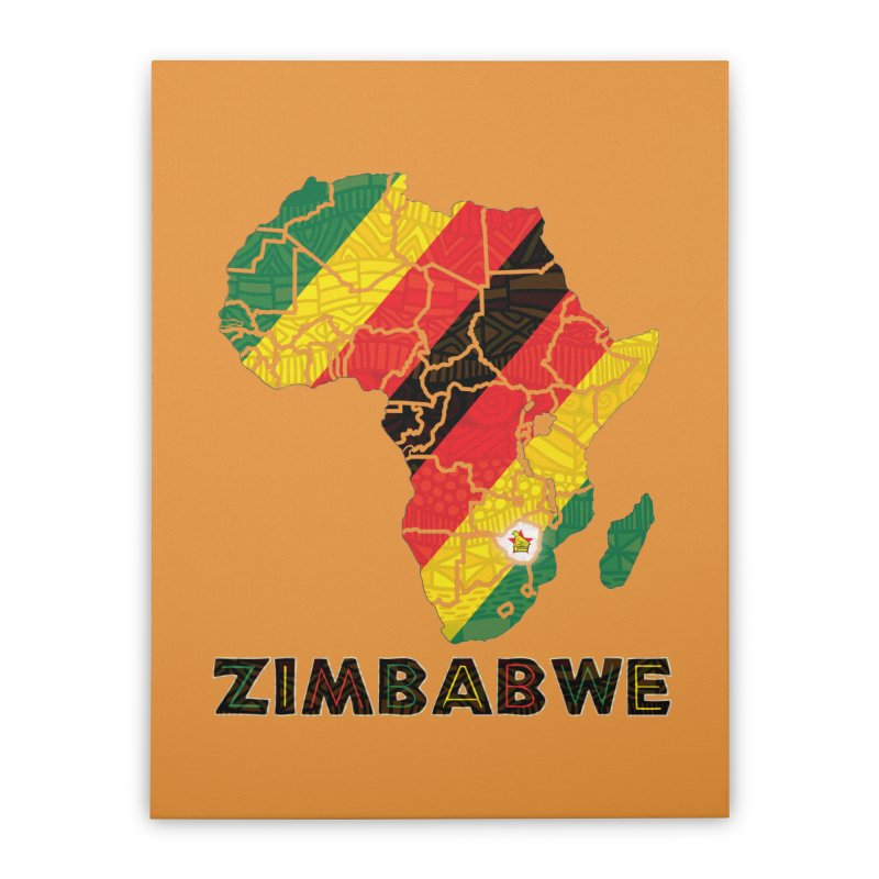 Zimbabwe Home Stretched Canvas by immerzion's t-shirt designs