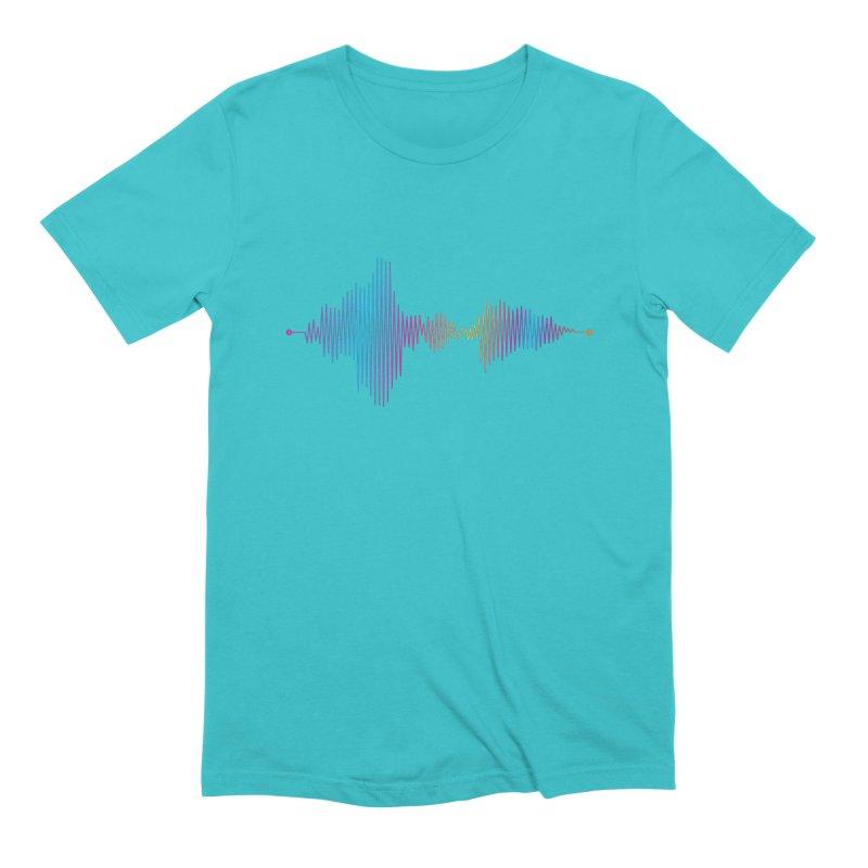 Waveform Men's Extra Soft T-Shirt by immerzion's t-shirt designs