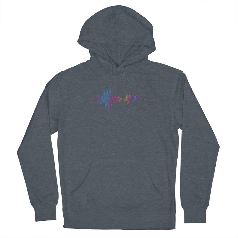 Waveform Men's Pullover Hoody by immerzion's t-shirt designs