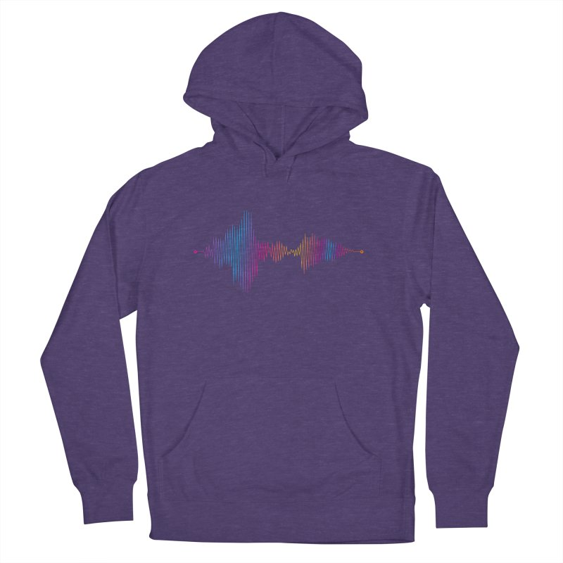 Waveform Women's French Terry Pullover Hoody by immerzion's t-shirt designs