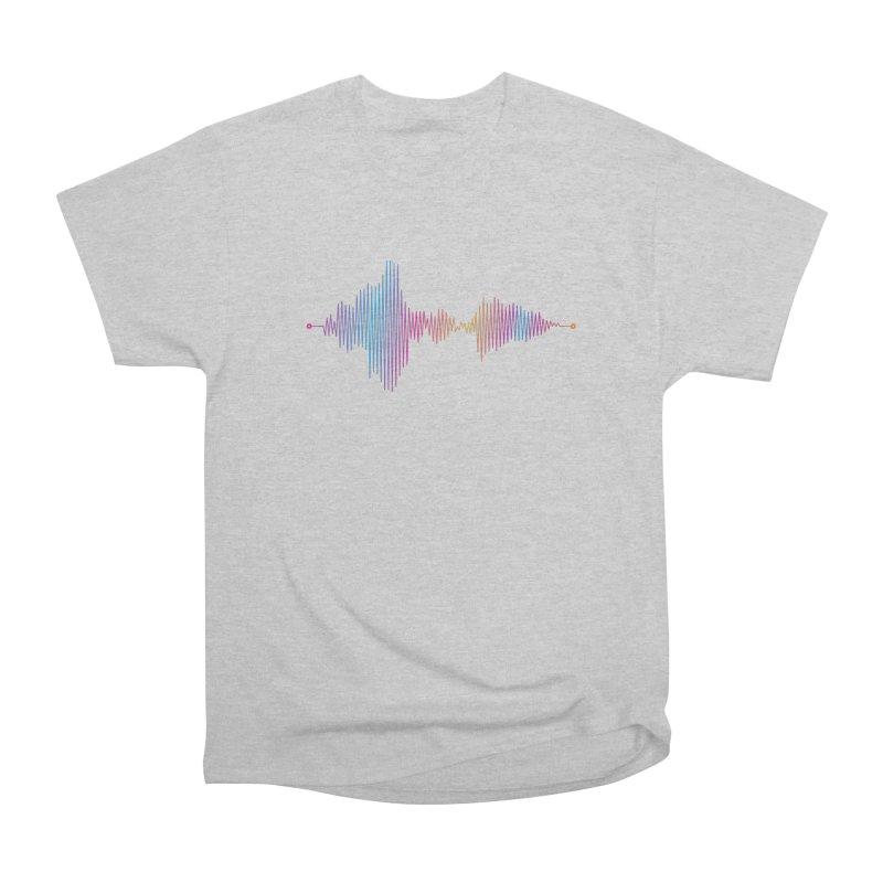 Waveform Women's Heavyweight Unisex T-Shirt by immerzion's t-shirt designs