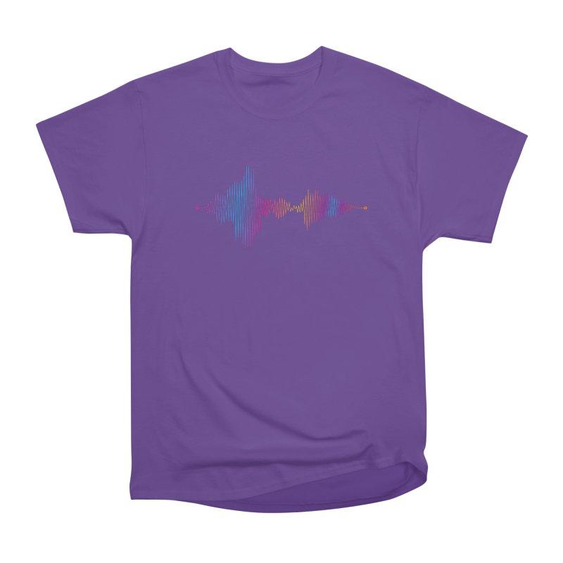 Waveform Men's Heavyweight T-Shirt by immerzion's t-shirt designs