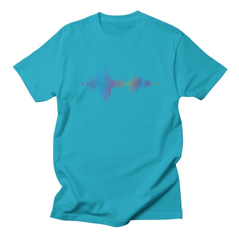 Waveform Women's Regular Unisex T-Shirt by immerzion's t-shirt designs