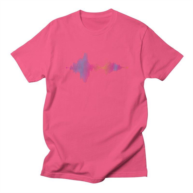Waveform Men's Regular T-Shirt by immerzion's t-shirt designs