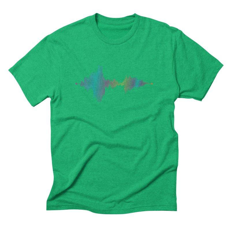 Waveform Men's Triblend T-Shirt by immerzion's t-shirt designs
