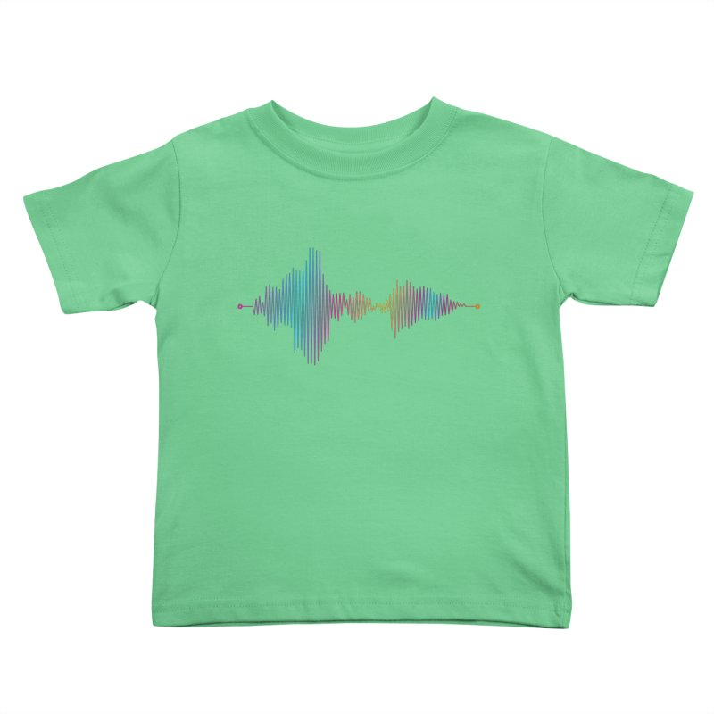 Waveform Kids Toddler T-Shirt by immerzion's t-shirt designs
