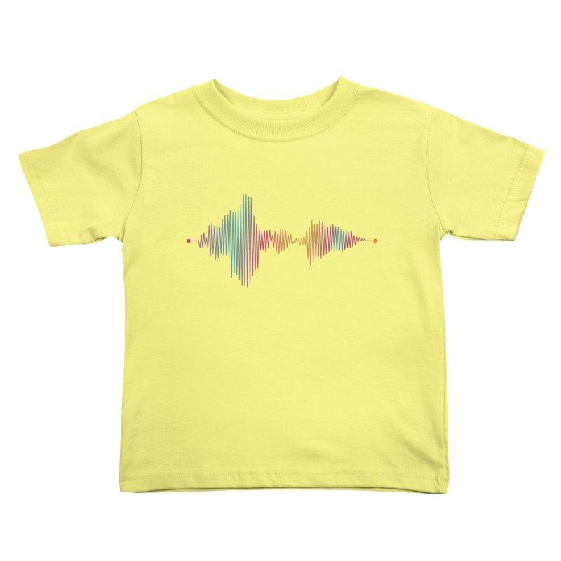 Waveform Kids Toddler T-Shirt by immerzion's t-shirt designs