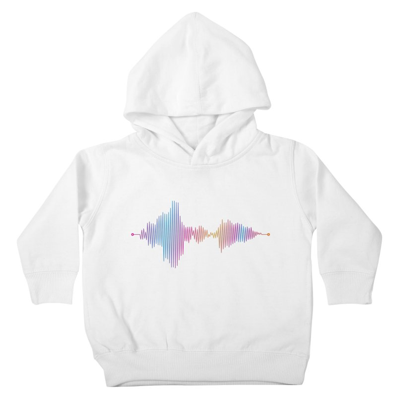 Waveform Kids Toddler Pullover Hoody by immerzion's t-shirt designs