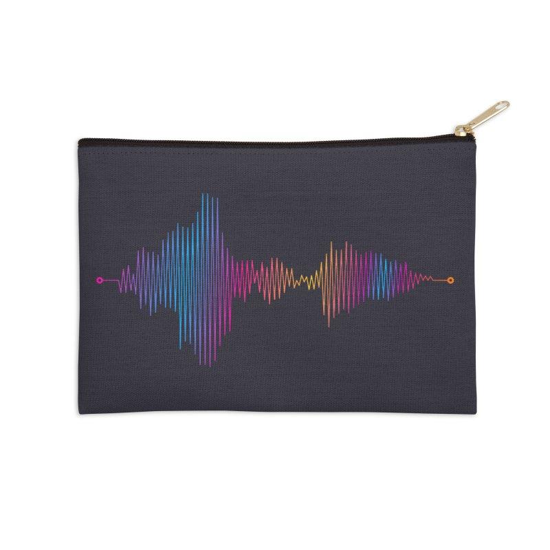 Waveform Accessories Zip Pouch by immerzion's t-shirt designs