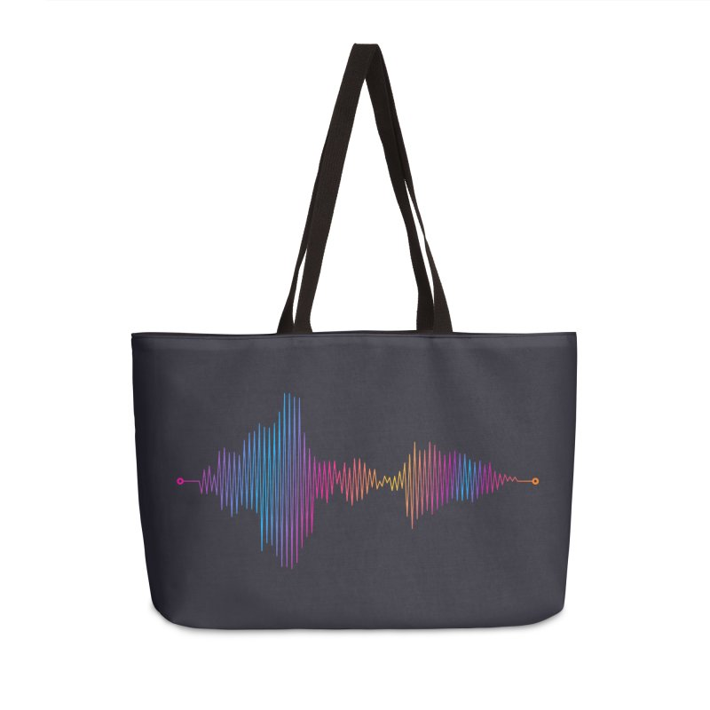 Waveform Accessories Weekender Bag Bag by immerzion's t-shirt designs