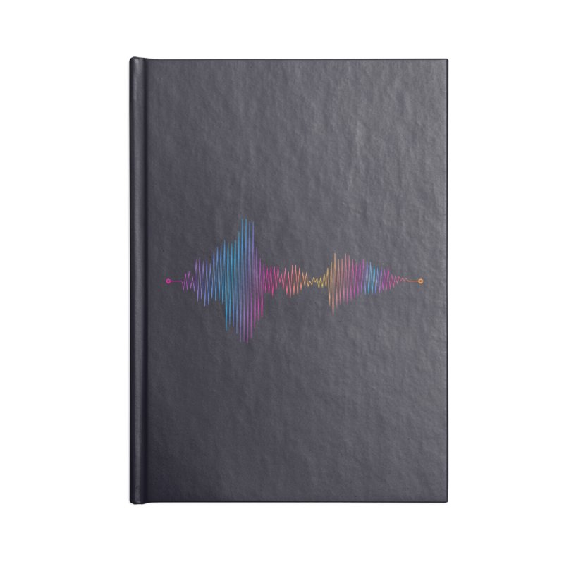 Waveform Accessories Lined Journal Notebook by immerzion's t-shirt designs