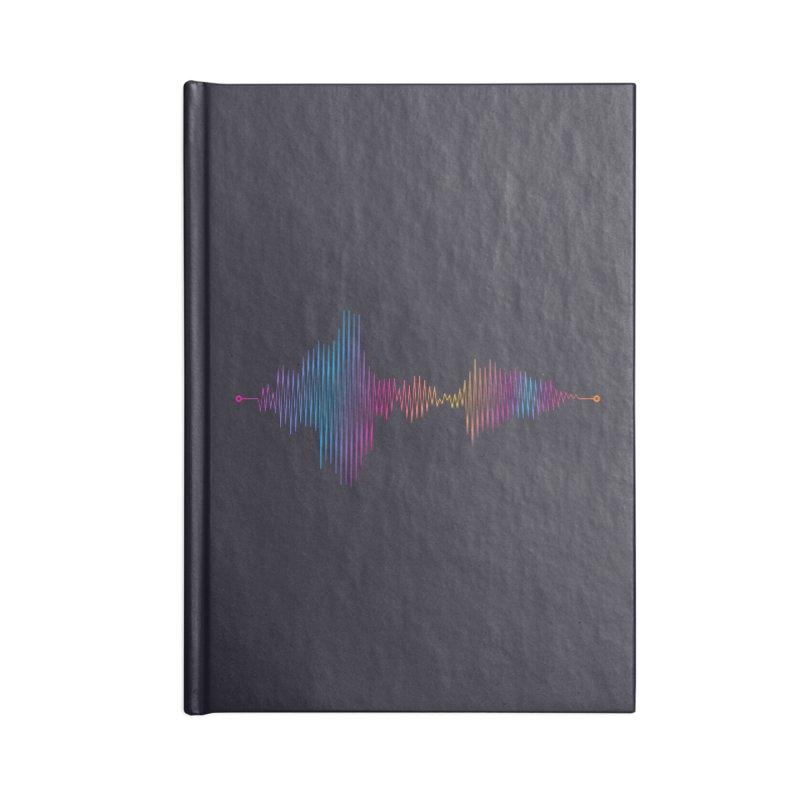 Waveform Accessories Notebook by immerzion's t-shirt designs