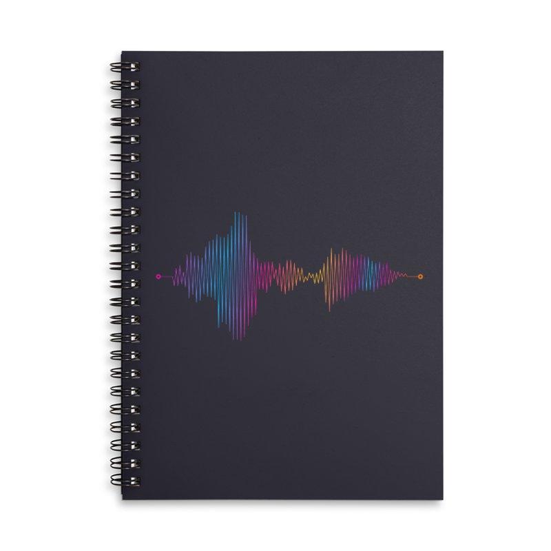Waveform Accessories Lined Spiral Notebook by immerzion's t-shirt designs