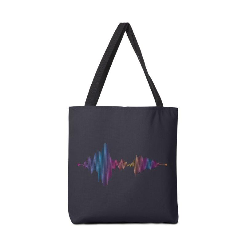 Waveform Accessories Bag by immerzion's t-shirt designs