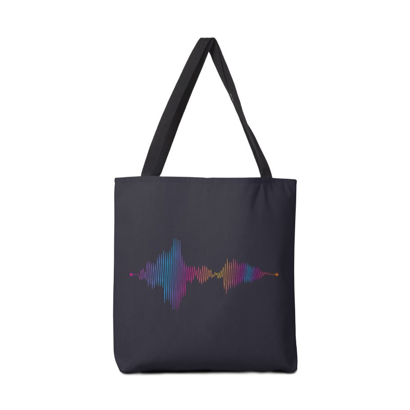 Waveform Accessories Bag by immerzion's t-shirt designs