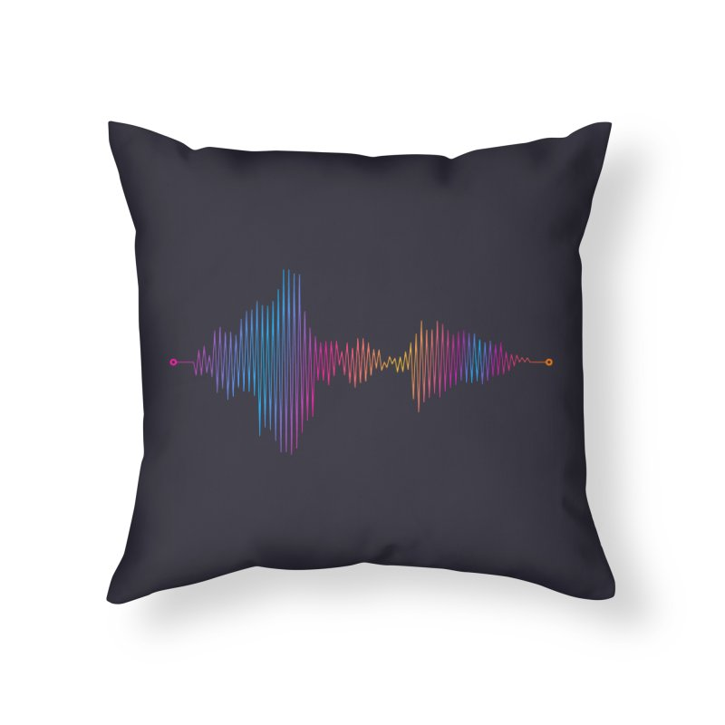 Waveform Home Throw Pillow by immerzion's t-shirt designs