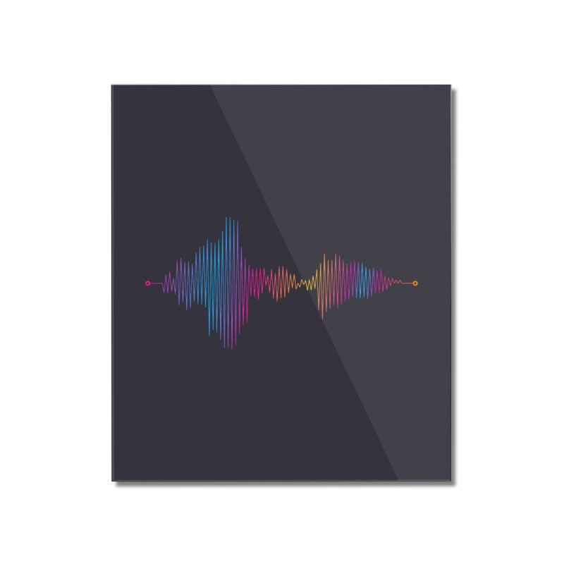 Waveform Home Mounted Acrylic Print by immerzion's t-shirt designs