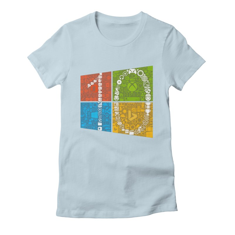 Windows 10 Insider Women's Fitted T-Shirt by immerzion's t-shirt designs